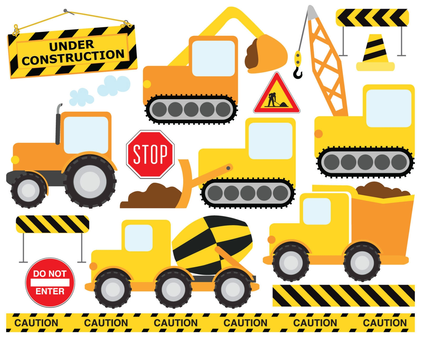 Bob The Builder Style Construction Building Site Childrens