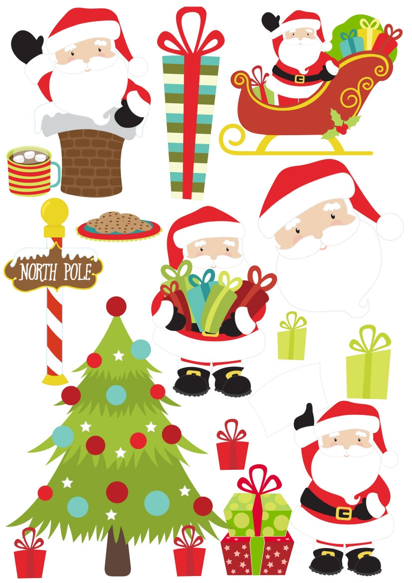 father christmas stickers