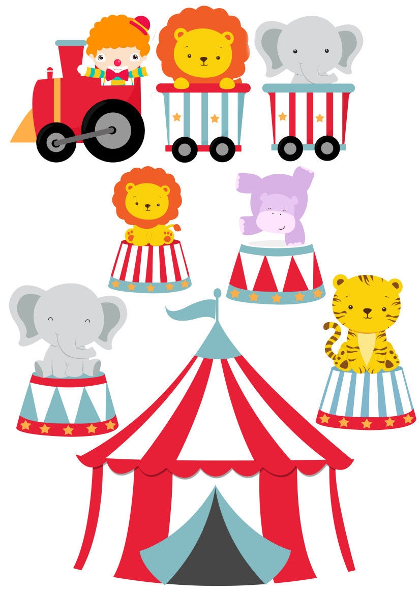 Circus Animals Train Nursery Wall Stickers Well And