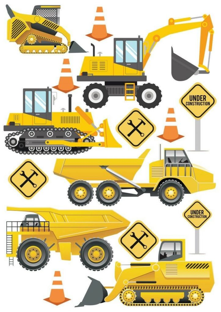 Construction-Digger-JCB-Style-Childrens-Nursery-Wall-Stickers-192028918740