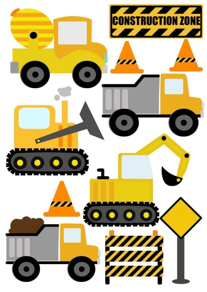 Construction-Digger-JCB-Style-Childrens-Nursery-Wall-Stickers-201986469700