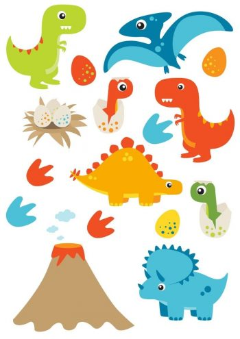 Dinosaur-T-Rex-Childrens-Nursery-Wall-Stickers-192370837625