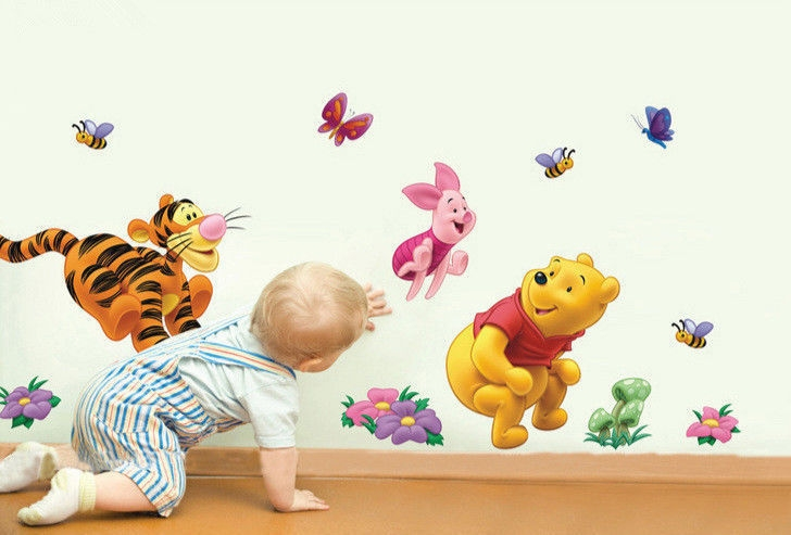 Disney Winnie The Pooh Tigger Piglet Friends Nursery Wall