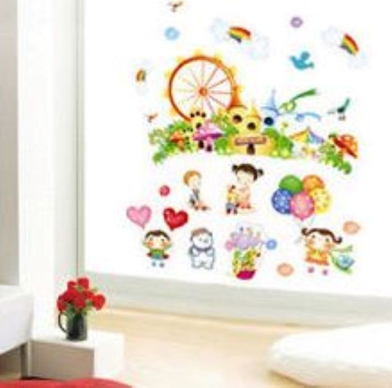 Dream school nursery wall sticker decoration wall art for Art room decoration school