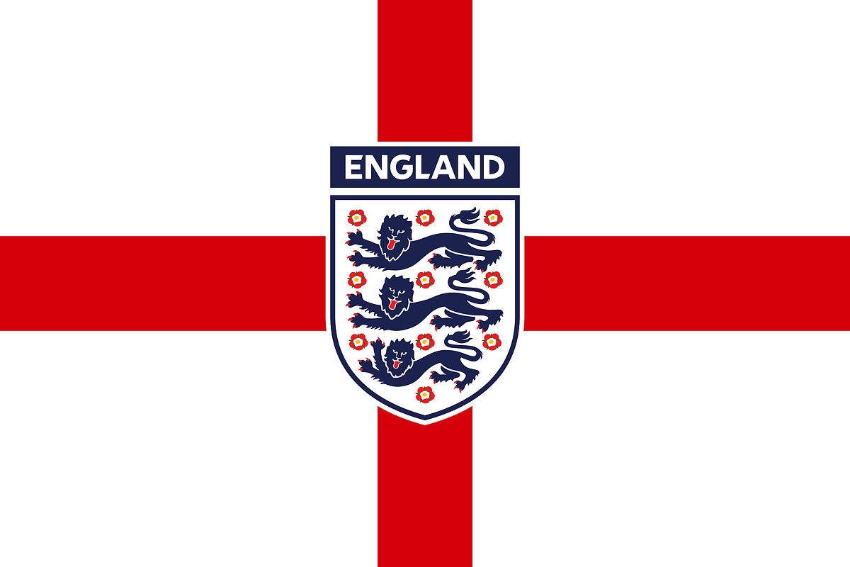 england 3 lions football flag sticker self adhesive � well