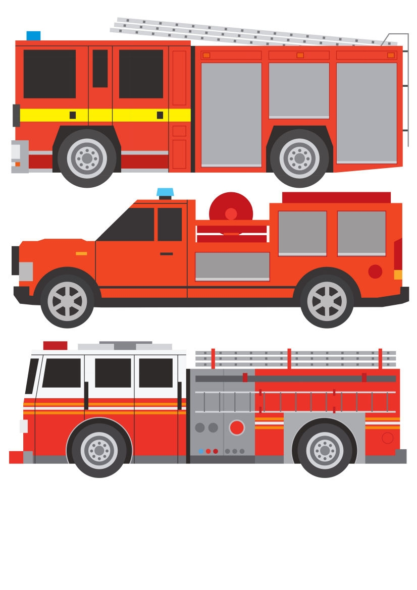 fire engine truck fire rescue childrens nursery wall stickers  u2013 well and truly stuck stickers
