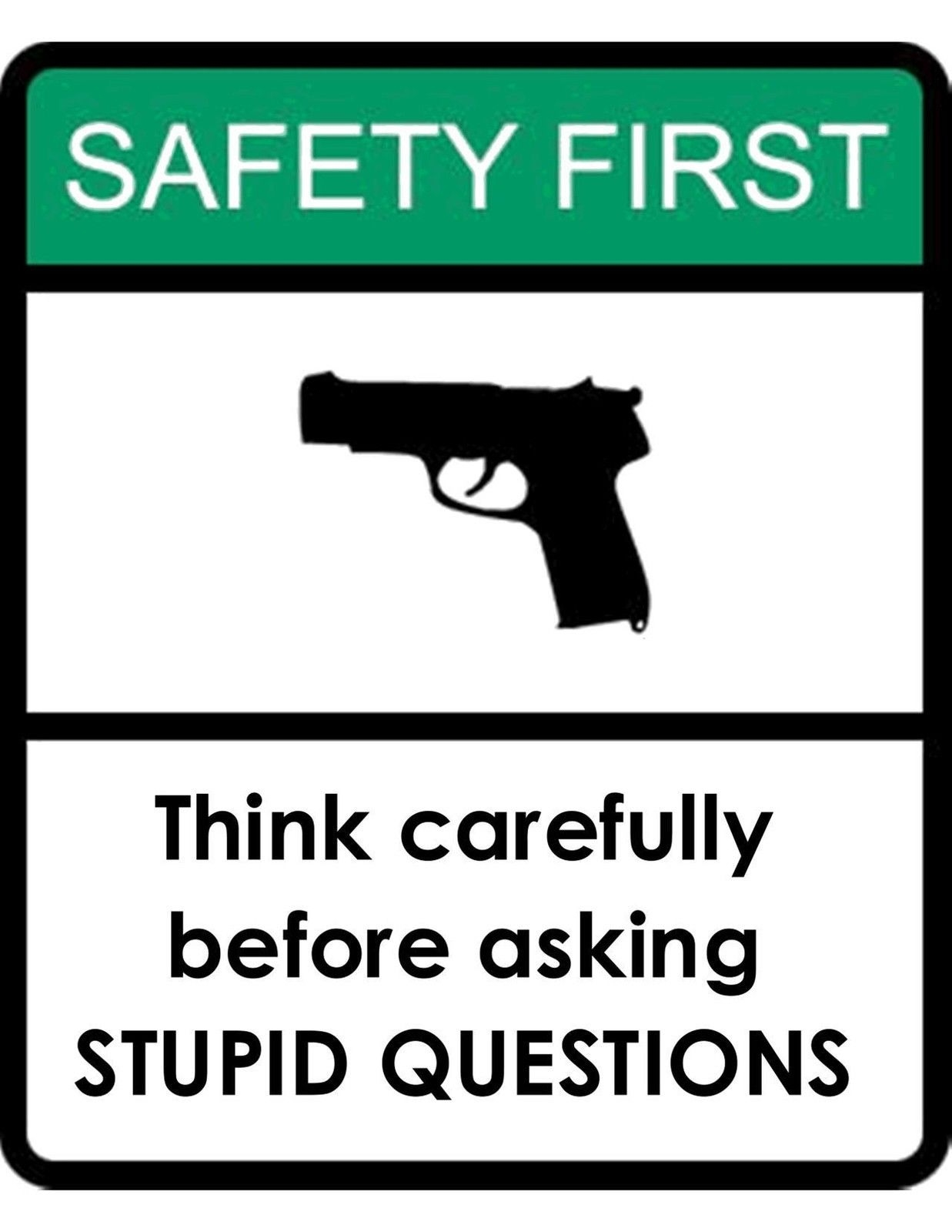 Flowers And Butterflies Wall Stickers Funny Warning Safety First Think Before Asking Questions