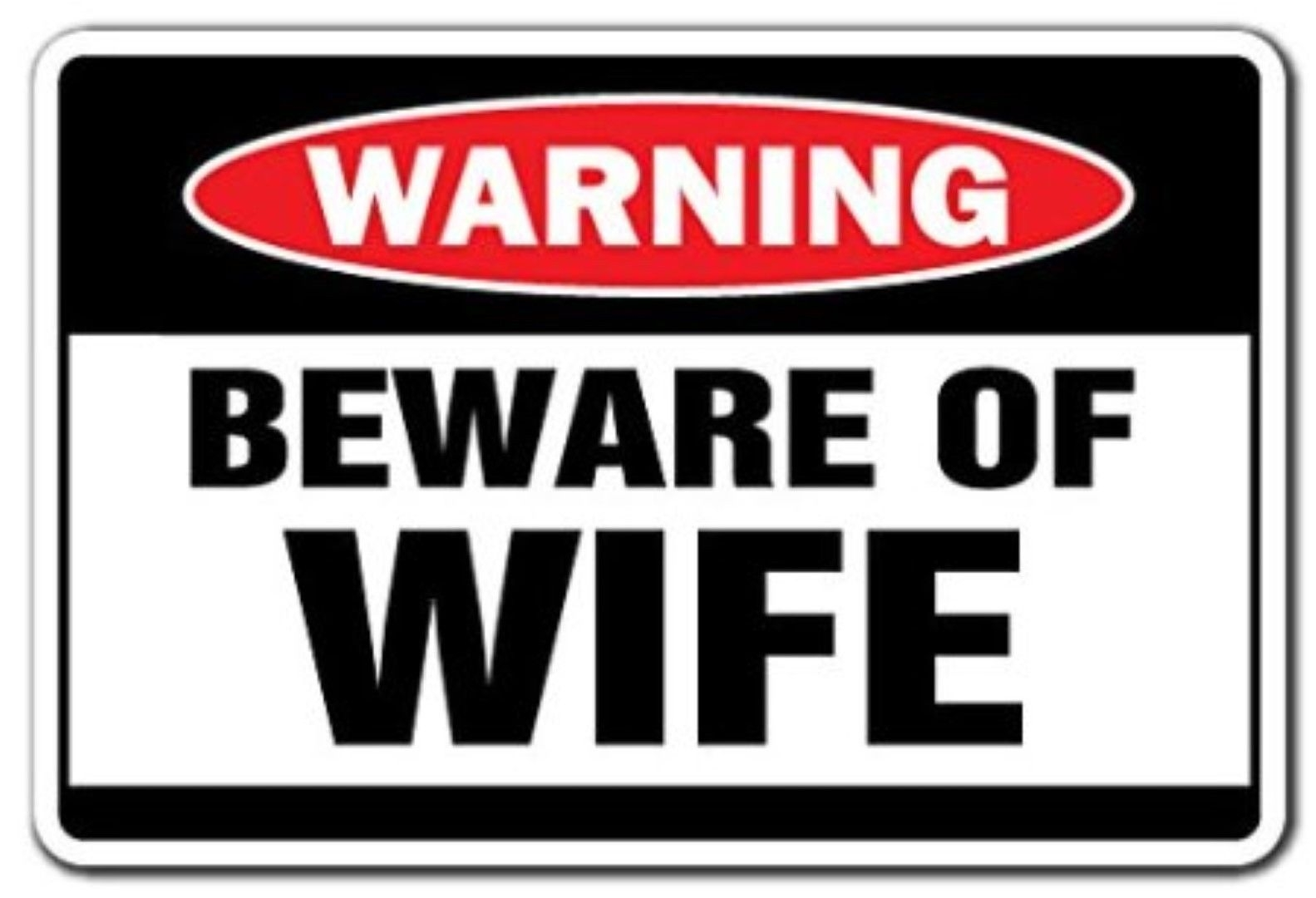 Wall Stickers Boys Room Funny Warning Sign Beware Of Wife Sticker Self Adhesive
