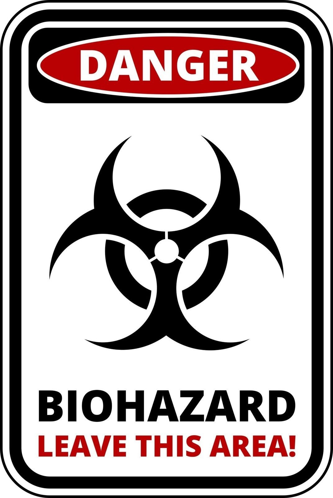 Flowers And Butterflies Wall Stickers Funny Warning Sign Danger Biohazard Sticker Self Adhesive