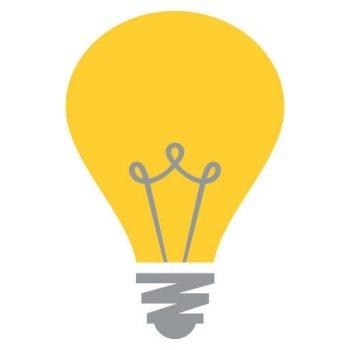 Lightbulb emoji icon sticker various sizes large self adhesive vinyl