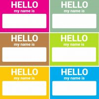 Name Tag Stickers