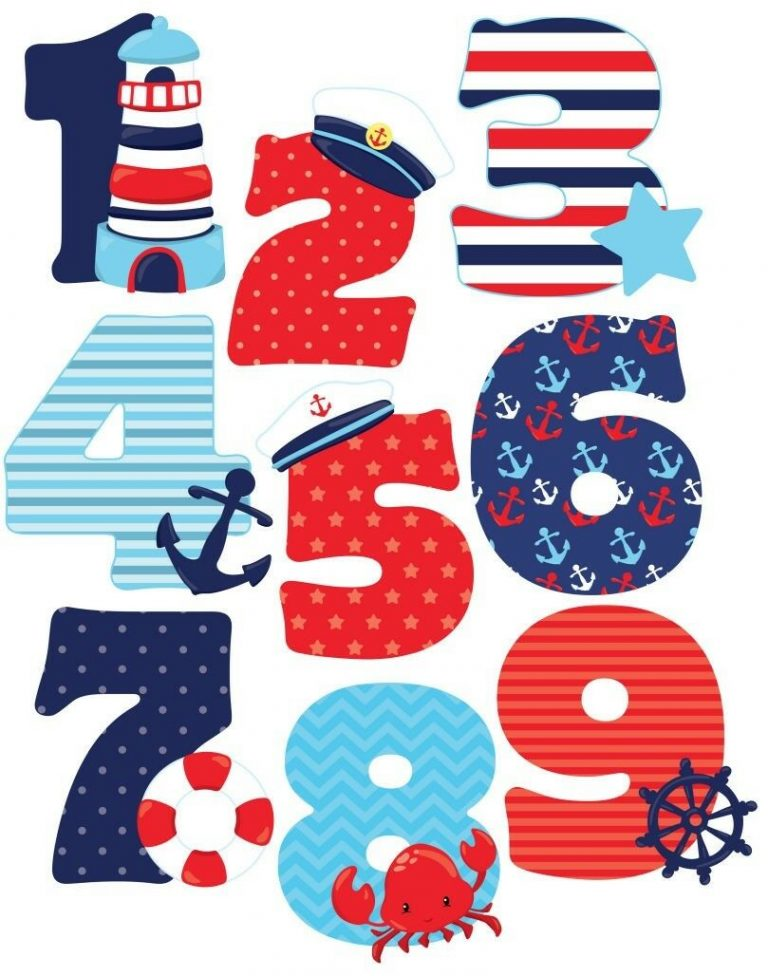 Nautical-Numbers-Sailing-Boats-Nursery-Wall-Stickers-XL-192272847036