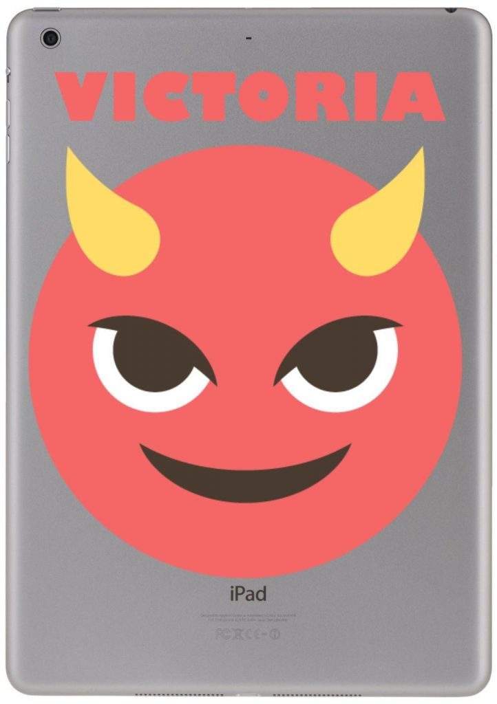 Personalised devil emoji sticker for ipad macbook nexusiphone