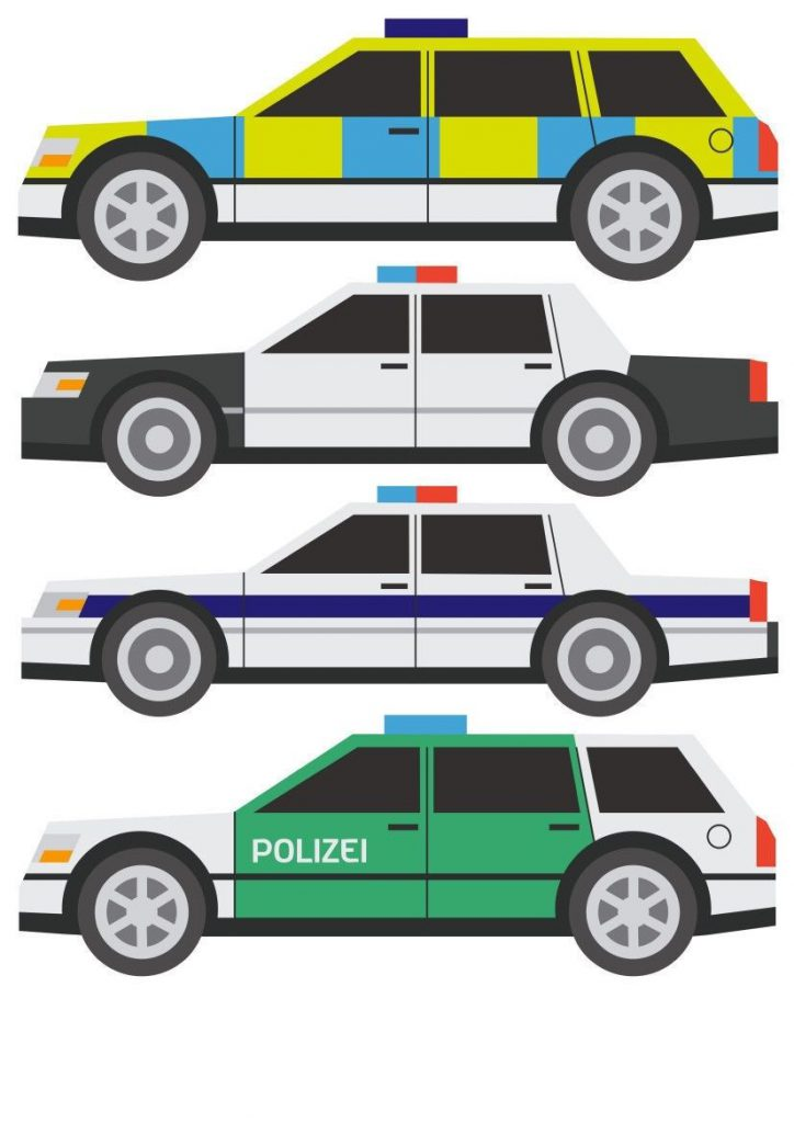 Police-Car-Vehicles-SWAT-Style-Childrens-Nursery-Wall-Stickers-201586957431