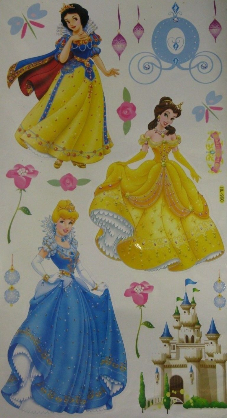 Magnificent Disney Princess Foam Wall Decorations Festooning - Wall ...