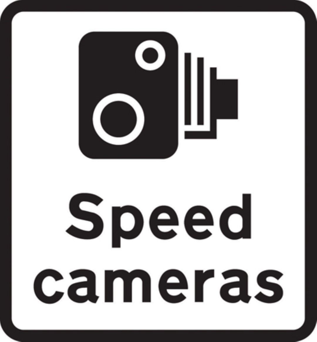 Small Wall Stickers Uk Speed Camera Road Traffic Warning Sign Self Adhesive