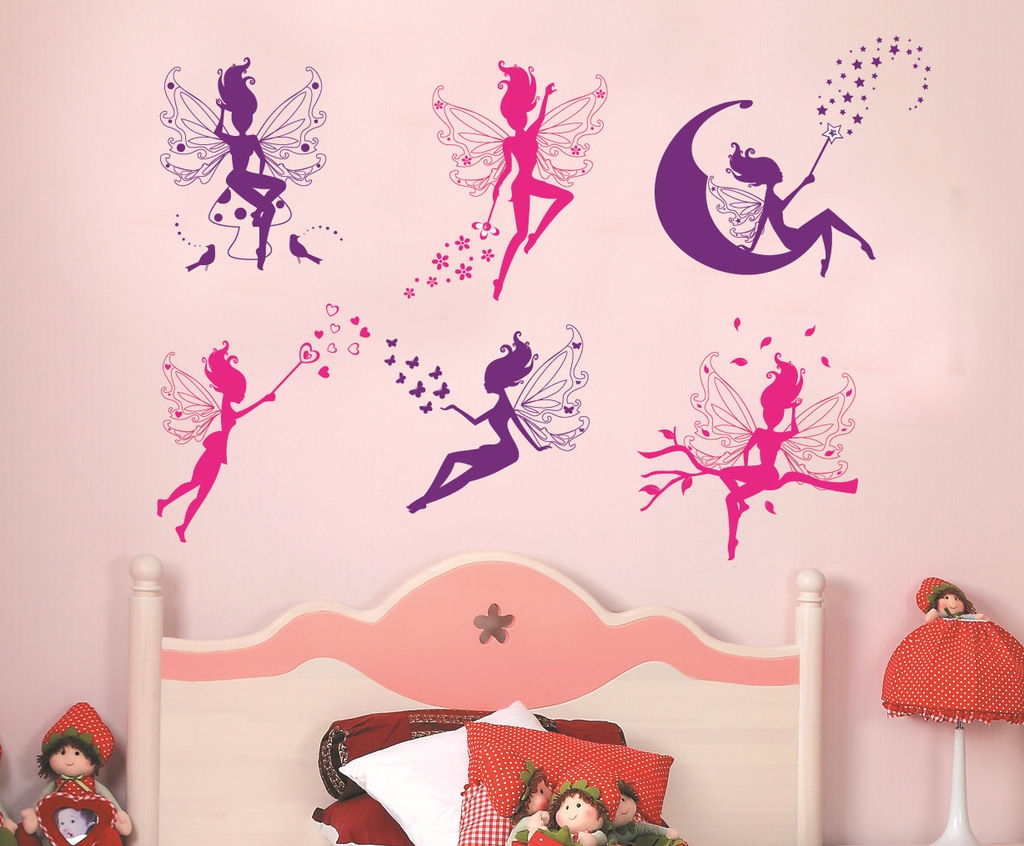Tinkerbell Moon Fairy Tinker Bell Large Girls Nursery Wall Sticker  Decoration U2013 Well And Truly Stuck Stickers