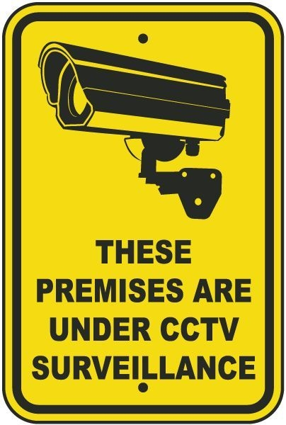 this property under video surveillance sign - 402×600