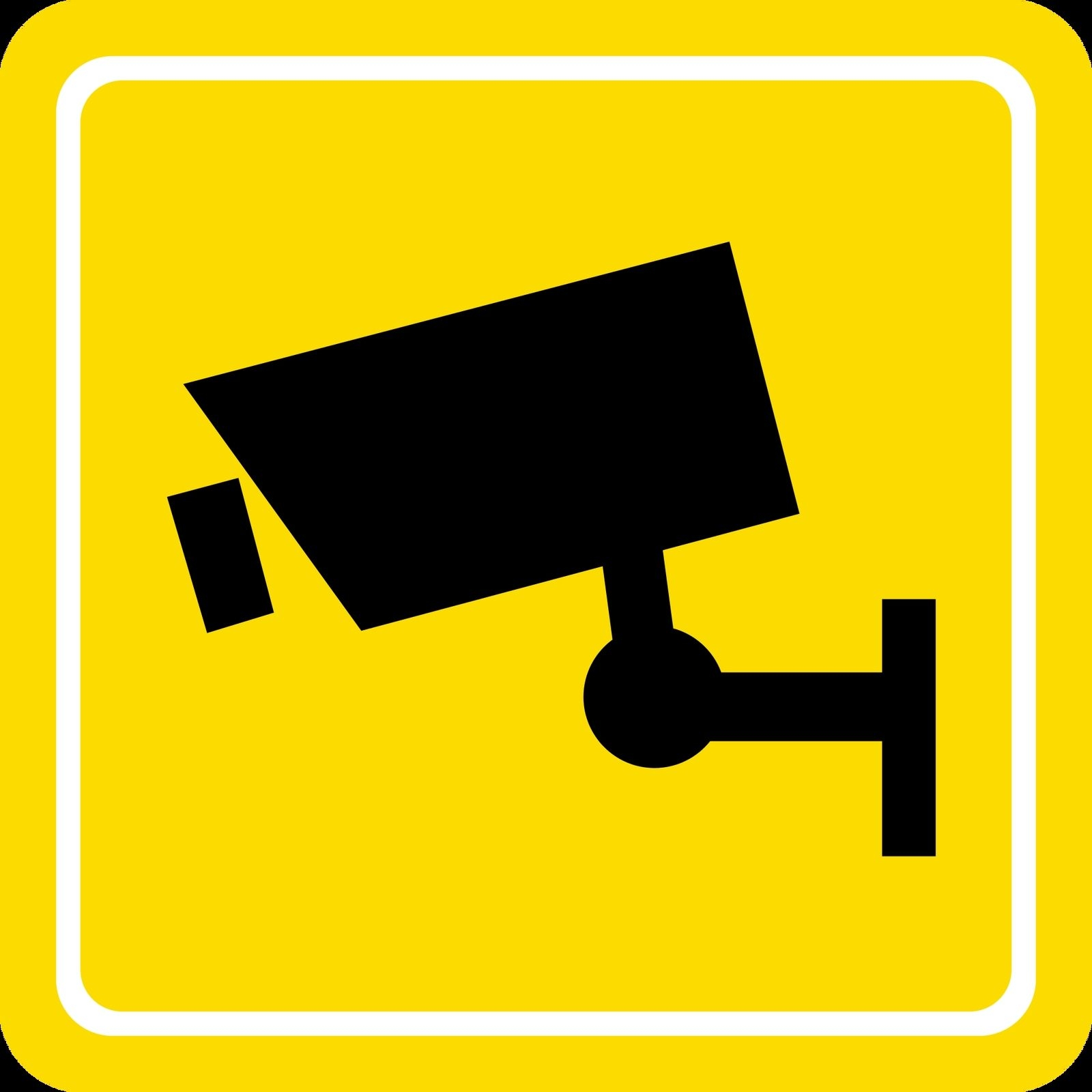Construction Wall Stickers Warning Cctv In Operation Surveillance Monitoring Sticker