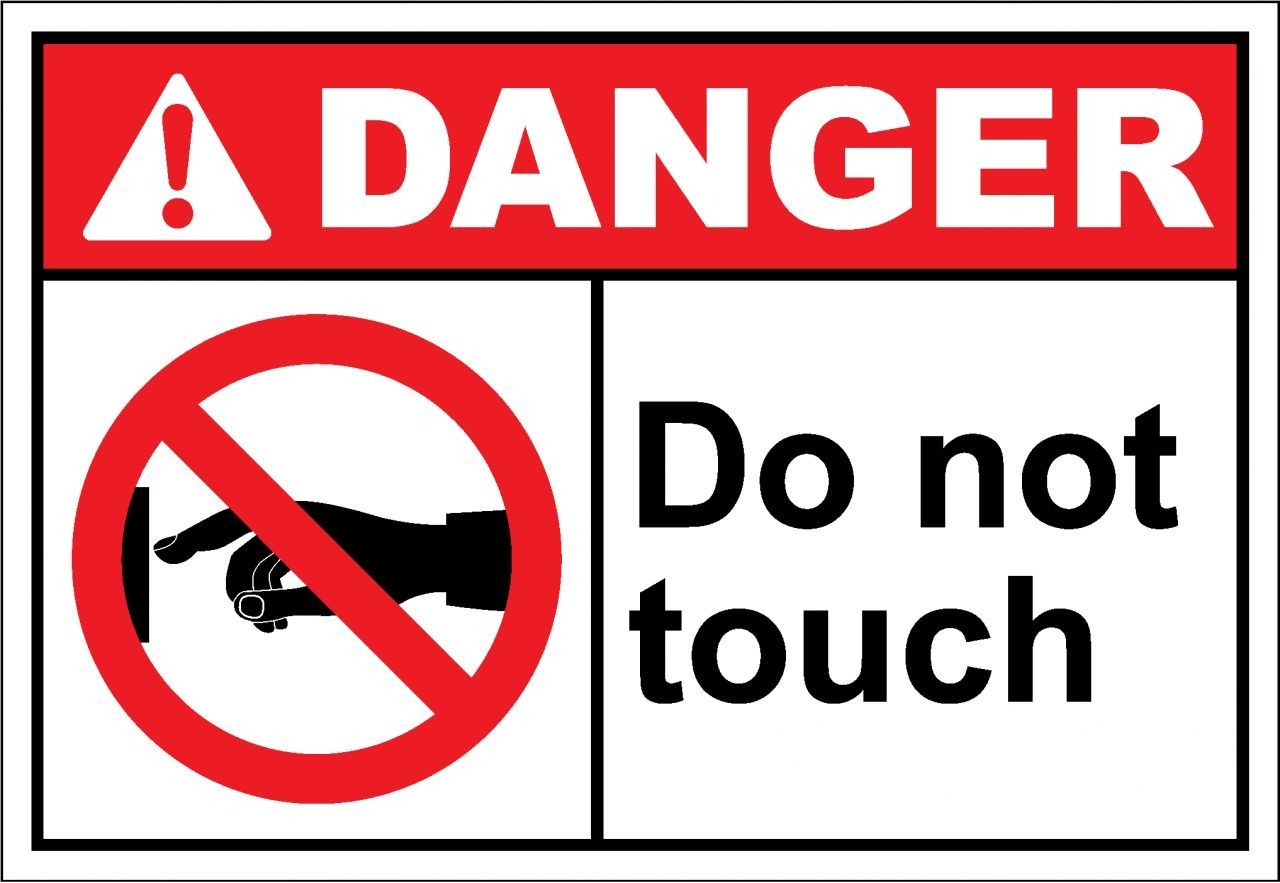 Warning Do Not Touch Notice Sticker Self Adhesive Vinyl