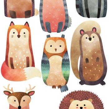 Woodland-Creatures-Forest-Squirrel-Birds-Nursery-Wall-Stickers-191995776753