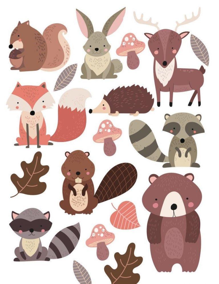 Woodland-Forest-Animals-Nursery-Wall-Stickers-201993435293