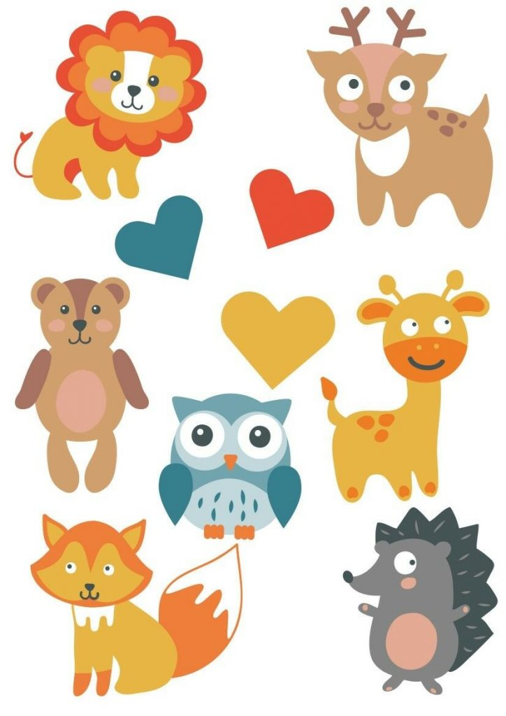 Woodland-Forest-Animals-Nursery-Wall-Stickers-Watercolour-201993429035